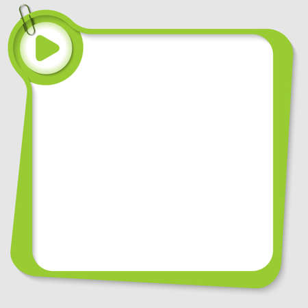 internet mark: green blank text box with arrow and paper clip Illustration