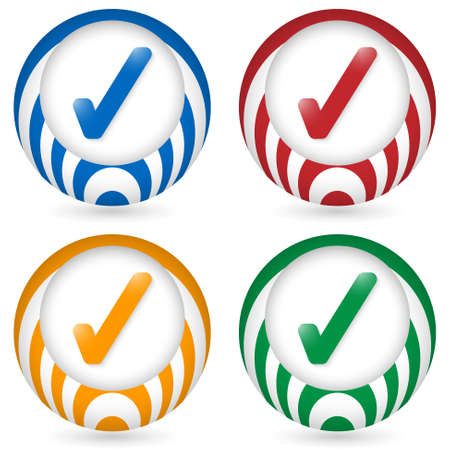 set of four icon with check box Vector