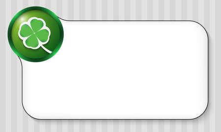 cloverleaf: frame for any text with cloverleaf Illustration