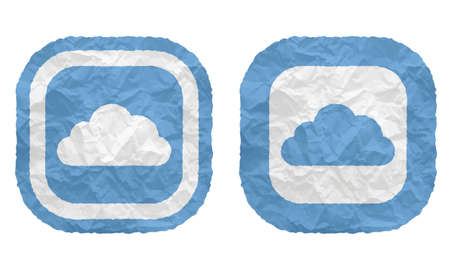 annular: two frames with texture crumpled paper and cloud Illustration