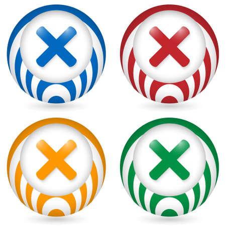 interdict: set of four icon with ban symbol Illustration