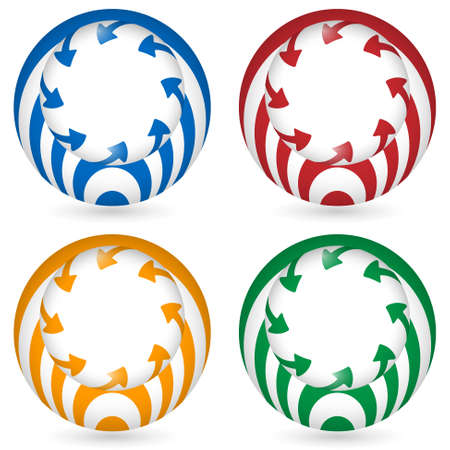 annular: set of four icon with arrows