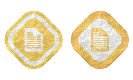 annular: two frames with texture crumpled paper and document icon