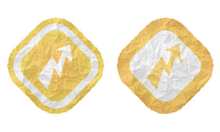 annular: two frames with texture crumpled paper and flash