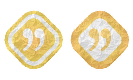 annular: two frames with texture crumpled paper and quotation mark Illustration