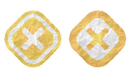 multiplicaci�n: dos marcos con textura de papel arrugado y s�mbolo de multiplicaci�n