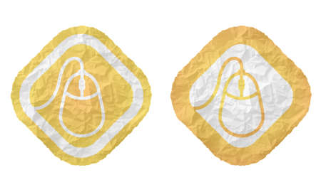 annular: two frames with texture crumpled paper and mouse icon