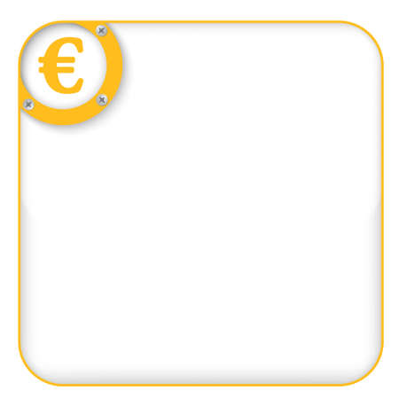 euro screw: yellow box for entering text with euro symbol Illustration
