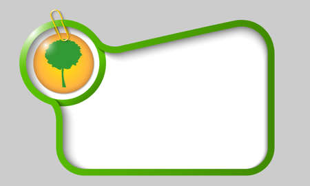 broad leaf: vector text box for any text with tree and paper clip