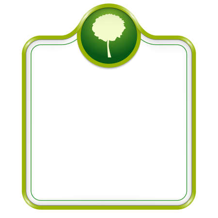 broad leaf: vector box for text with tree symbol