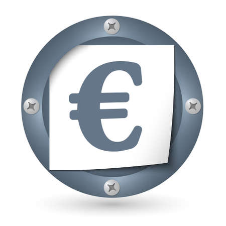 annular: dark abstract icon with paper and euro symbol