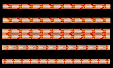fondo luminoso: tiras con las flechas y la luz de fondo Vectores