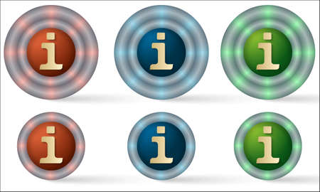 set of six icons with info symbol Vector