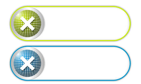 multiplication: two vector buttons with grid and multiplication symbol