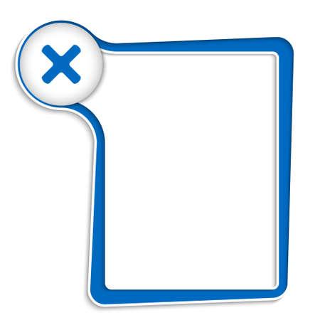 multiplicacion: cuadro de texto azul para cualquier texto con el s�mbolo de la multiplicaci�n