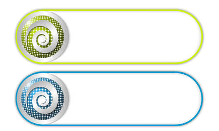 coil: two vector buttons with grid and spiral Illustration