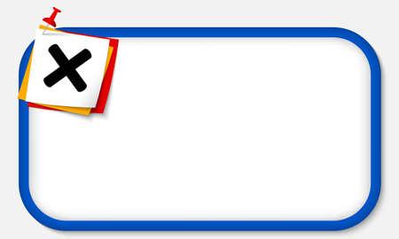 multiplicacion: marco azul con el pasador y el s�mbolo de multiplicaci�n