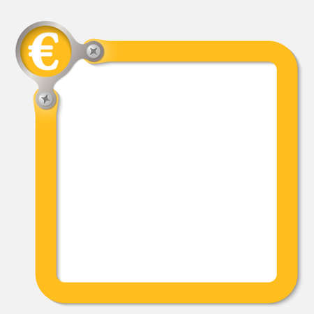 euro screw: yellow frame for any text with euro symbol