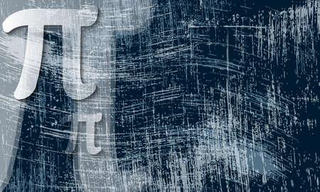 pi: transparent pi symbol and scratched background