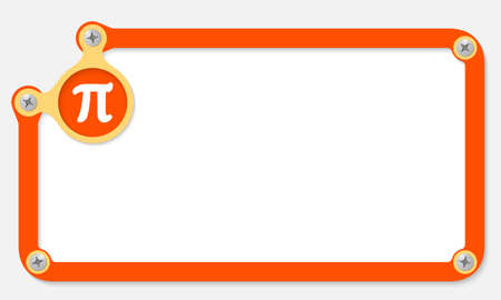 Orange Frame For Text With Screws And Pi Symbol Royalty Free
