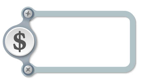 dollar symbol: vector frame with screws and dollar symbol