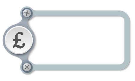 libra esterlina: vector marco con tornillos y s�mbolo de la libra esterlina Vectores