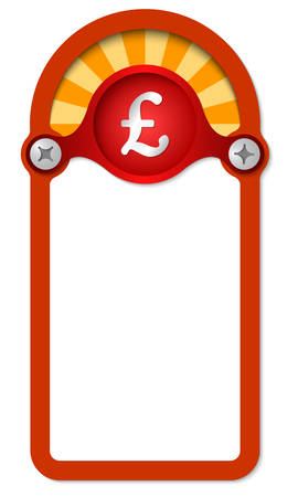 pound sterling: red vertical box for any text with pound sterling
