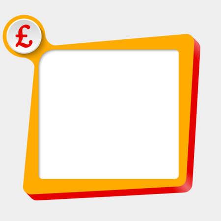 libra esterlina: cuadro de texto vector para cualquier texto con el s�mbolo de libra esterlina Vectores