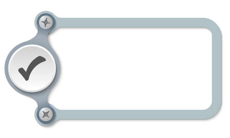 check box: vector frame with screws and check box
