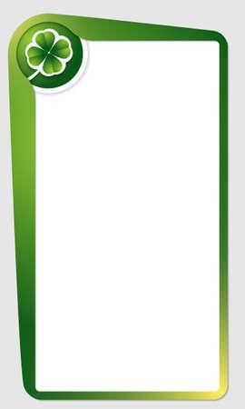 cloverleaf: green frame for text and cloverleaf