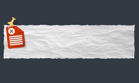 multiplicaci�n: bandera de papel arrugado y s�mbolo de multiplicaci�n Vectores