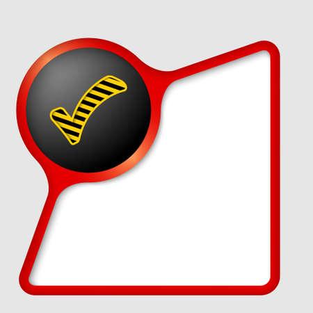 check box: abstract frame and check box Illustration