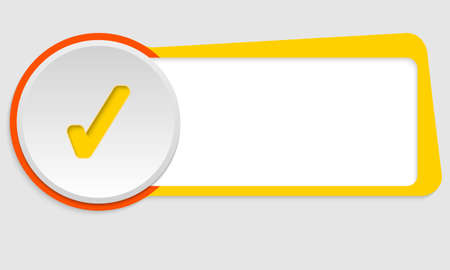 check box: yellow frame for text and check box