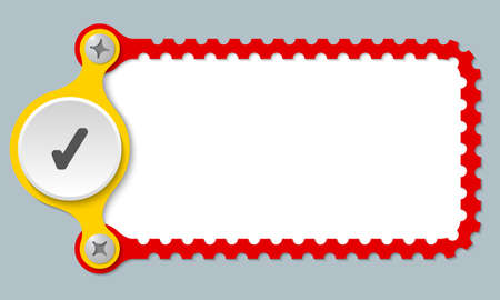 check box: vector perforated frame with check box Illustration