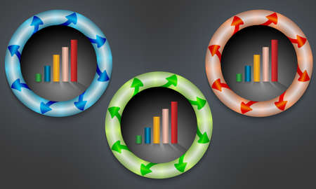 annular: icons with color back light and graph