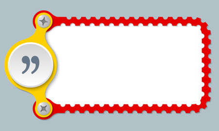 perforated: vector perforated frame and quotation mark Illustration