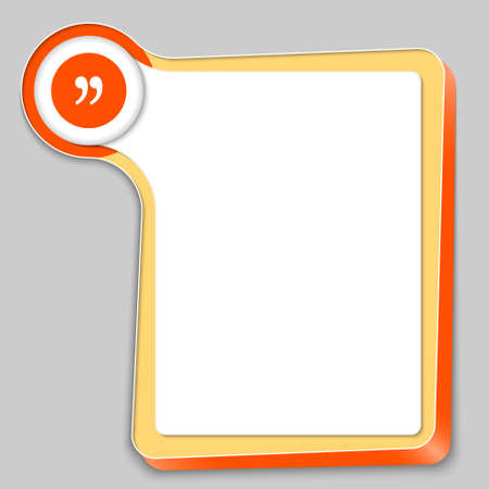 any: yellow box for any text and quotation mark