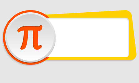 pi: yellow frame for text and pi symbol