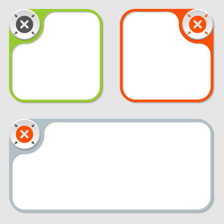 multiplication: set of three vector frames and multiplication symbol