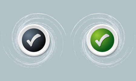 check box: set of two icon and check box Illustration