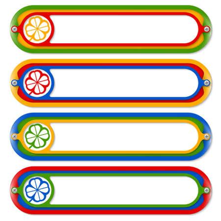 cloverleaf: four colored frames for any text and cloverleaf Illustration