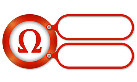 red frames and omega symbol Illustration