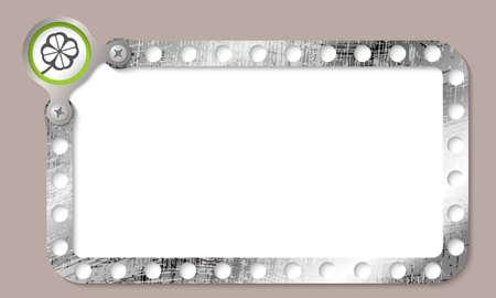 cloverleaf: metal frame for any text and cloverleaf Illustration