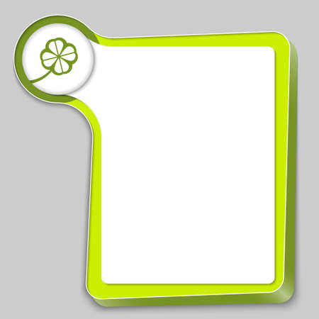 green box for any text and cloverleaf Vector