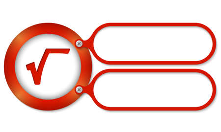square root: red frames and square root symbol Illustration