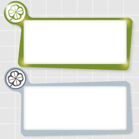 cloverleaf: set of two text boxes for text and cloverleaf
