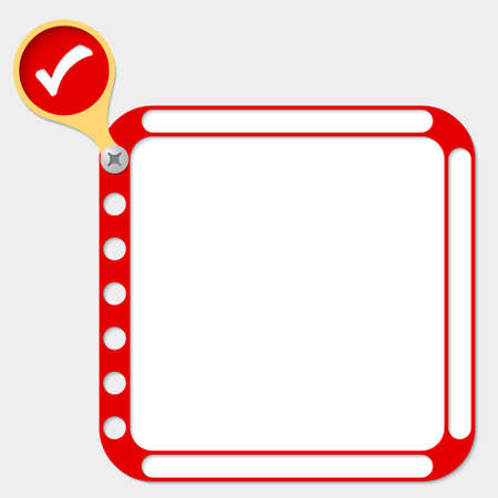 check box: perforated frame for any text and check box