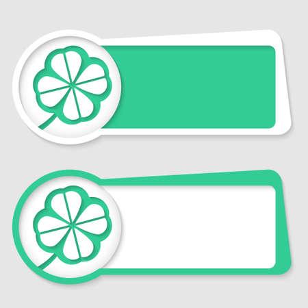cloverleaf: two frames for insertion text and cloverleaf