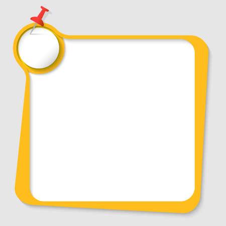 yellow pushpin: yellow text box with pushpin and paper