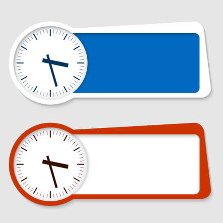 two frames for insertion text and watches Vector